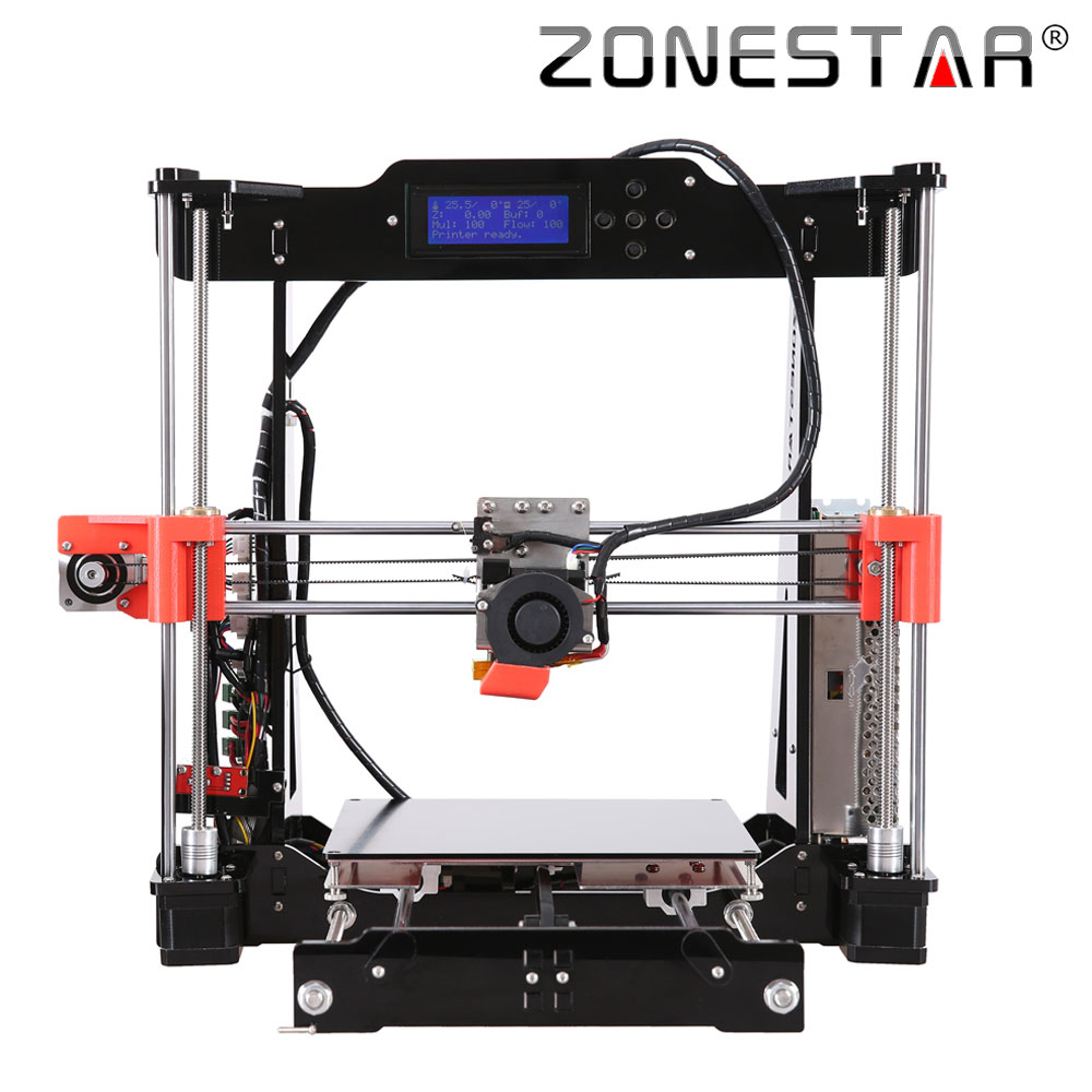 Optional Dual Extruder i3 3d printer DIY kit P802N/P802NR2 Selectable Filament SD Card LCD Free Shipping 2017 classic tevo tarantula i3 aluminium extrusion 3d printer kit 3d printing 2 roll filament sd card titan extruder as gift
