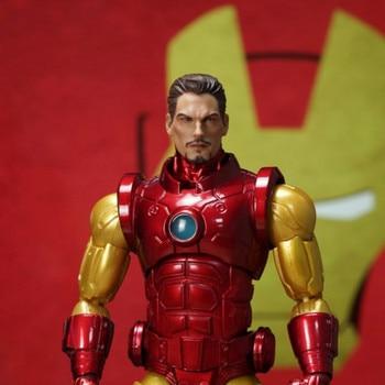 Pre-sale 1/12 Scale Cartoon Edition Iron Man Head Sculpt Mezco Action Figure Toy
