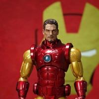 Pre sale 1/12 Scale Cartoon Edition Iron Man Head Sculpt Mezco Action Figure Toy