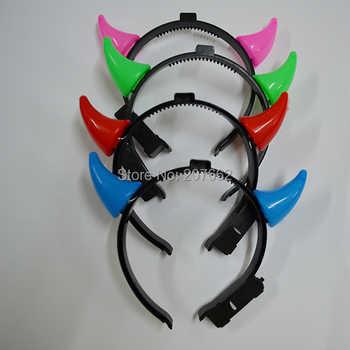 Free Shipping 120pcs/lot Halloween Costume Bull luminous horns headband led headwear light up kids toys decoration supplies - DISCOUNT ITEM  0% OFF All Category