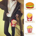 Cute Cartoon Personality Hamburg French Fries Popcorn Bags Shoulder Messenger Chain Mini Bag BS88