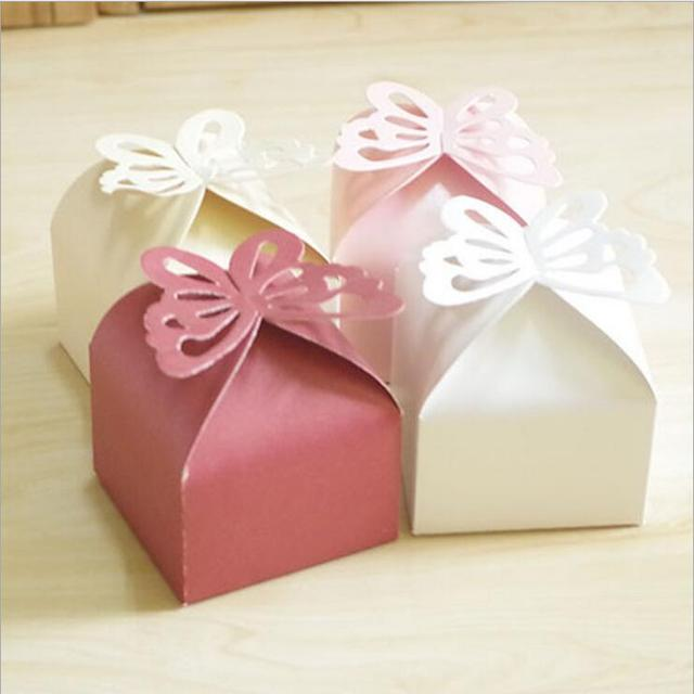 Us 20 25 24 Off Wedding Decoration 100pcs Folding Diy Butterfly Wedding Candy Box For Ideas Wedding Favors And Gifts Boxes In Gift Bags Wrapping