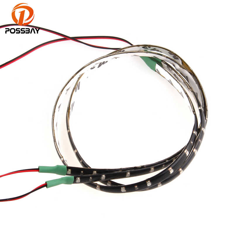 POSSBAY 30/6/90cm 15/30/45Leds 1210 DC12V Flexible Tape Led Strip Decoration Lights White/Red/Blue/Green Atmosphere Lights
