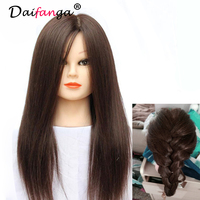 New Arrival Mannequin Hairdressing Training Head 90% Real Human Hair with Thick White Hair Mannequin Head For Sale
