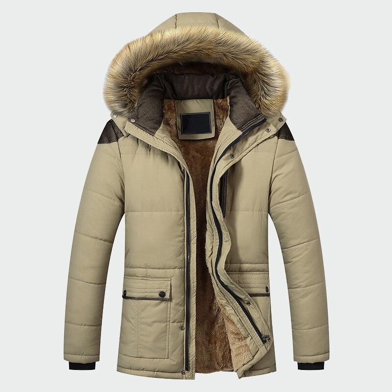Veste d'hiver hommes marque vêtements décontracté mince épais chaud hommes manteaux Parkas avec capuche longs pardessus hommes vêtements ML026 - 4