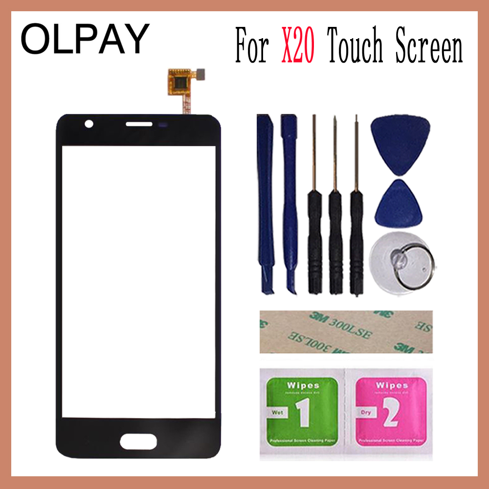 OLPAY 5.0 Touch Panel For Doogee X20 Touch Screen Glass Digitizer Panel Lens Sensor Glass Free Adhesive And WipesOLPAY 5.0 Touch Panel For Doogee X20 Touch Screen Glass Digitizer Panel Lens Sensor Glass Free Adhesive And Wipes