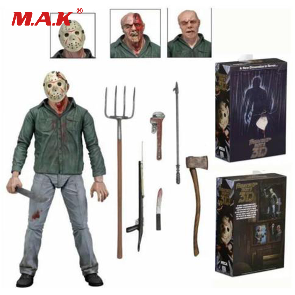 7 Anime Figure NECA PVC Jason Voorhees Friday Ultimate Horror Deluxe Edition Action Figure Model Toys for Collection Gift street fighter v chun li bigboystoys with light action figure game toys pvc action figure collection model toys kids for gift