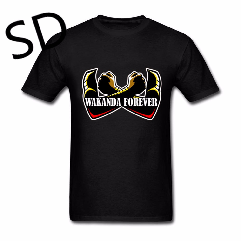 dropshipping wakanda forever t shirt men black panther. Black Bedroom Furniture Sets. Home Design Ideas