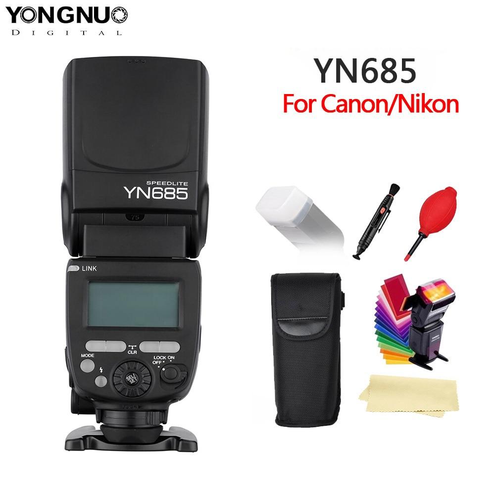 YONGNUO YN685 N/C Flash HSS 2.4g GN60 Wireless Speedlite TTL Speedlight per Canon 1300d Nikon d5300 d200 d3400 d3100 DSLR Della Macchina Fotografica