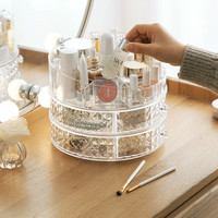 Rotating cosmetics shelf lipstick storage box Desktop multi layer dressing table storage shelf lipstick rack XI2261349