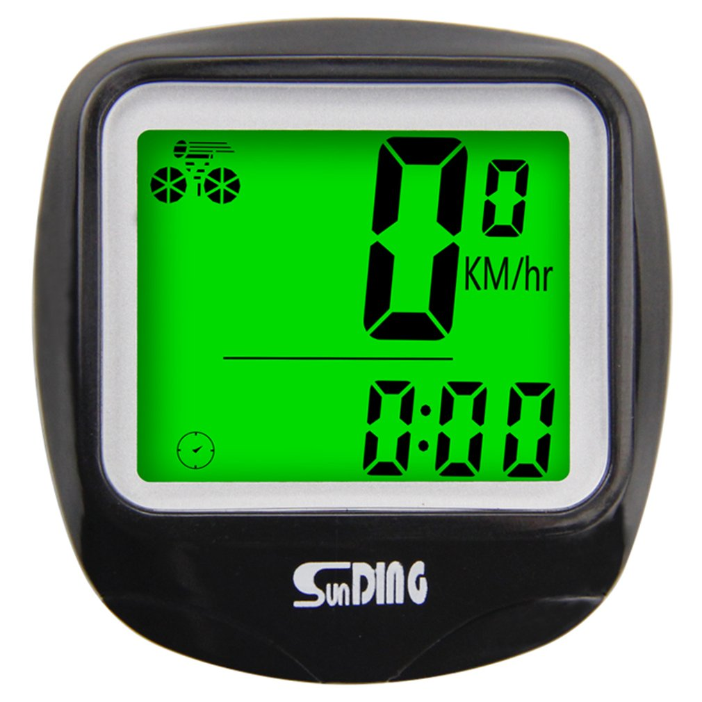 SUNDING Bike Computer Speedometer Wireless Waterproof Bicycle Cycle Computer Multi-Function LCD Back-Light Display