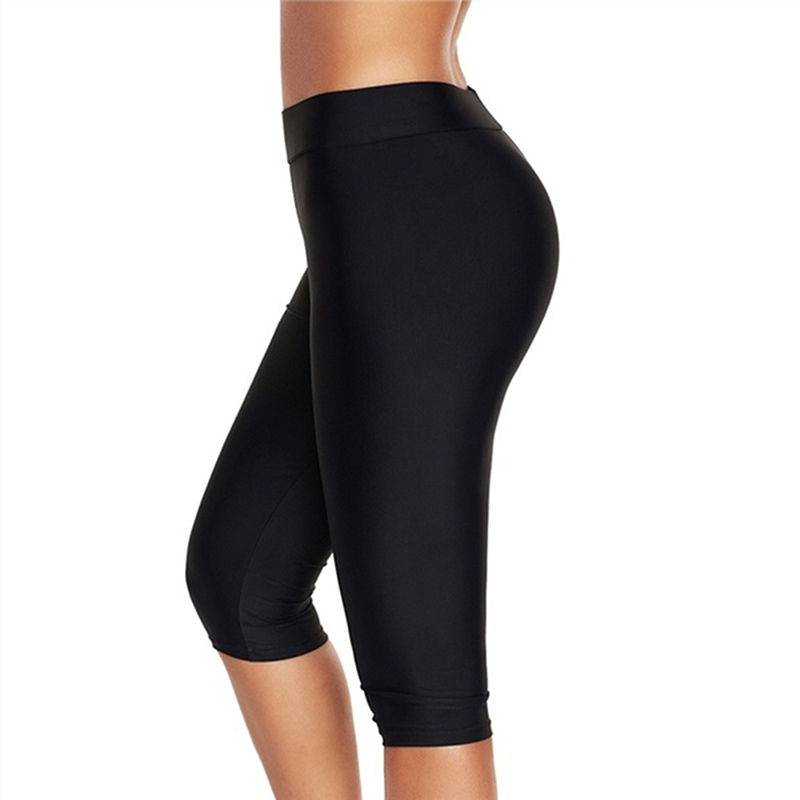 High Waist Push Up Fitness Leggings Crop Wide Waistband Cycling Short Leggings Workout Jogging For Women Training Leggings
