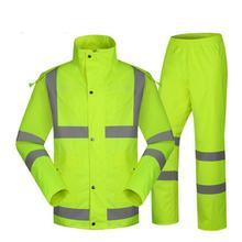 SPARDWEAR водонепроницаемый высокая видимость светоотражающие с подогревом полосы куртка и брюки дождевик