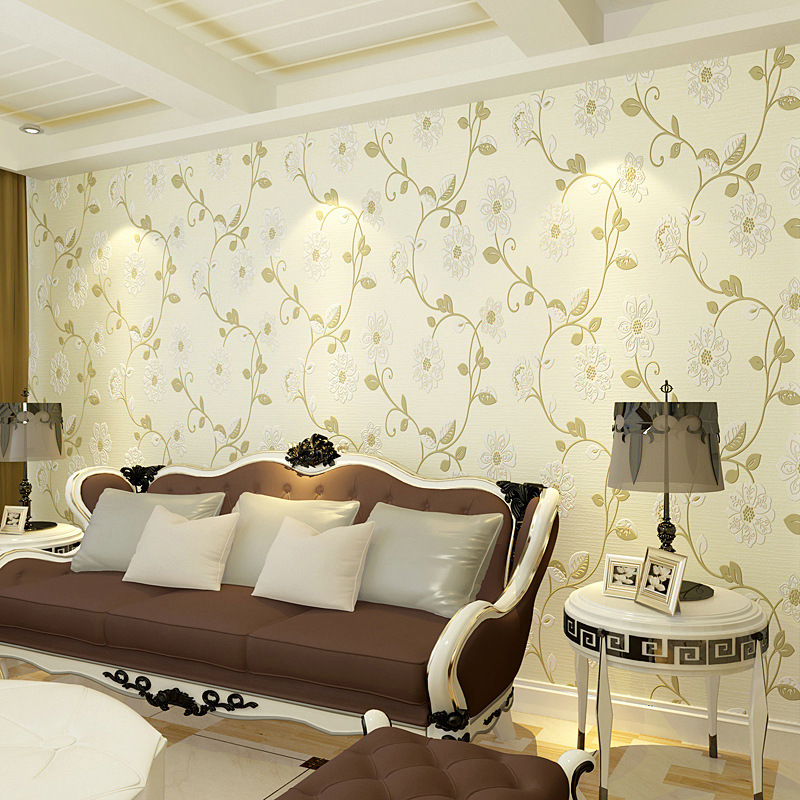 beibehang pastoral flowers wallpaper for living room girl's bedroom TV sofa background walls papel de parede 3d wall paper roll