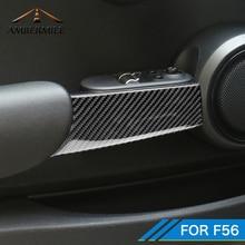 AMBERMILE 2 шт для Mini Cooper F56 JCW аксессуары салона углеродного волокна дверная ручка крышки отделкой Стикеры наклейка для автомобиля