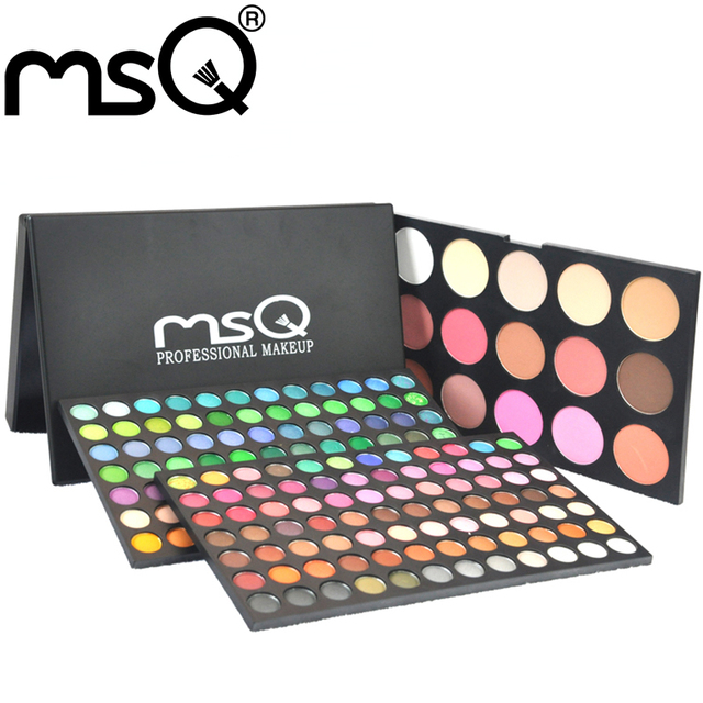 MSQ Women 183 Colors Makeup Cosmetic Eyeshadow Palette With Cheek Blush Makeup Suitable For Makeup