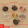 200piece 20mm Bezel Cufflink Blank Cufflink Tray Botton Cabochon Base Jewelry FindingsCUL005