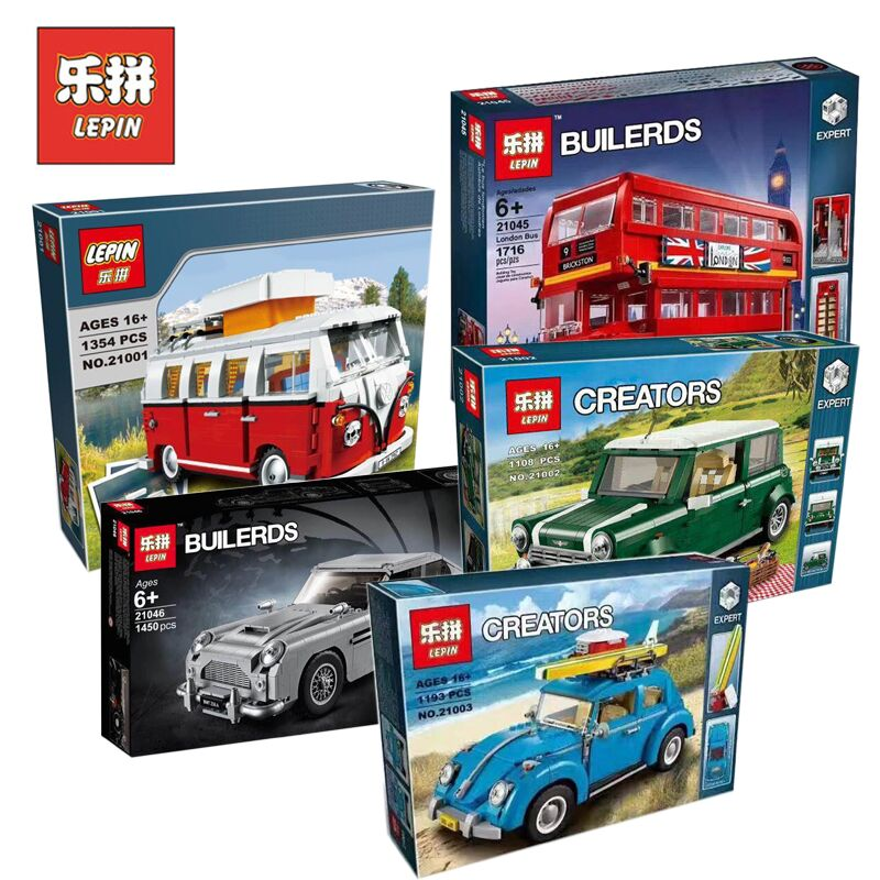 Lepin Technic Car 21001 21002 21003 21046 Set Compatible Legoing 10220 10252 10242 Model Building Kits Blocks Bricks Toy For Boy lepin 21002 technic series car model building kits blocks bricks toys compatible with jeep legoinglys 10242 for children gifts