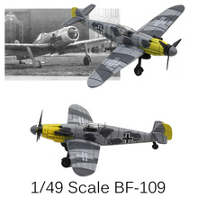 4D Flying Models Plastic Aircraft Models 1/49 Messerschmitt Scale BF-109 Fighter 4 Playmobile Brinquedos Toys For Children Gifts
