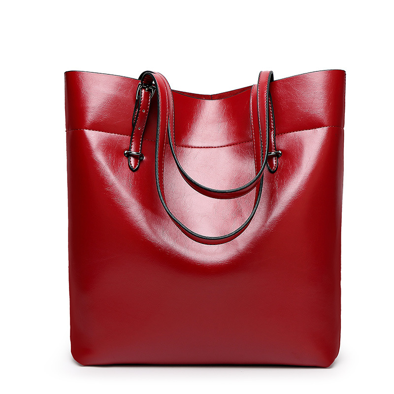 Designer Woman Red Tote Bags Waterproof Pu Leather Handbag Large Capacity Causal Shoulder Bag Taschen Women Tasche 5colors In Top Handle From