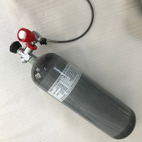 Rifle Pcp 6 8L 300bar 4500psi Empty Gas Cylinder Balloon Air Scuba Valve Fill Station Hose