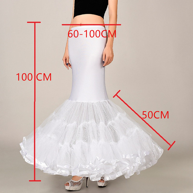Hot Sale Cheap Mermaid Wedding Petticoat Bridal Accessories Underskirt Crinoline Petticoats for Wedding Dresses Jupon