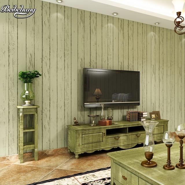 beibehang nostalgischen retro mittelmeer holz vlies tapete schlafzimmer wohnzimmer tv gestreifte. Black Bedroom Furniture Sets. Home Design Ideas
