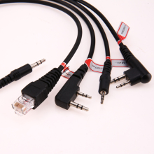 8 en 1 USB Cable de Programación Para Motorola Kenwood BAOFENG de Radio Móvil Accesorios Walkie Talkie Cable Con CD