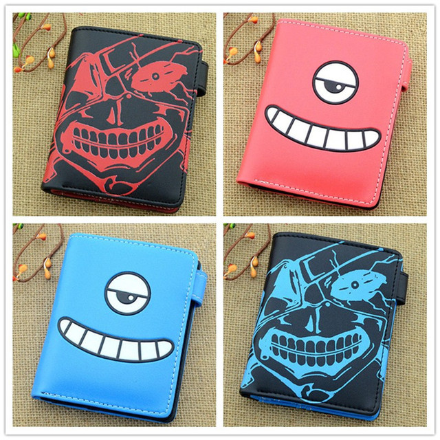 No Face Man of Anime Spirited Away Wallet Parasitic Loge Detective Conan Tokyo Ghou Men Wallets With Zipper Pouch Coin Holder Kids Wallets