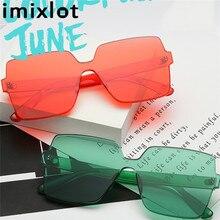 f19644e9f Imixlot محل الكلاسيكية مربع النظارات الشمسية الرجال 2018 نظارات بدون شفة  نظارات الشمس للنساء CandyColor مكبرة فرملس نظارات