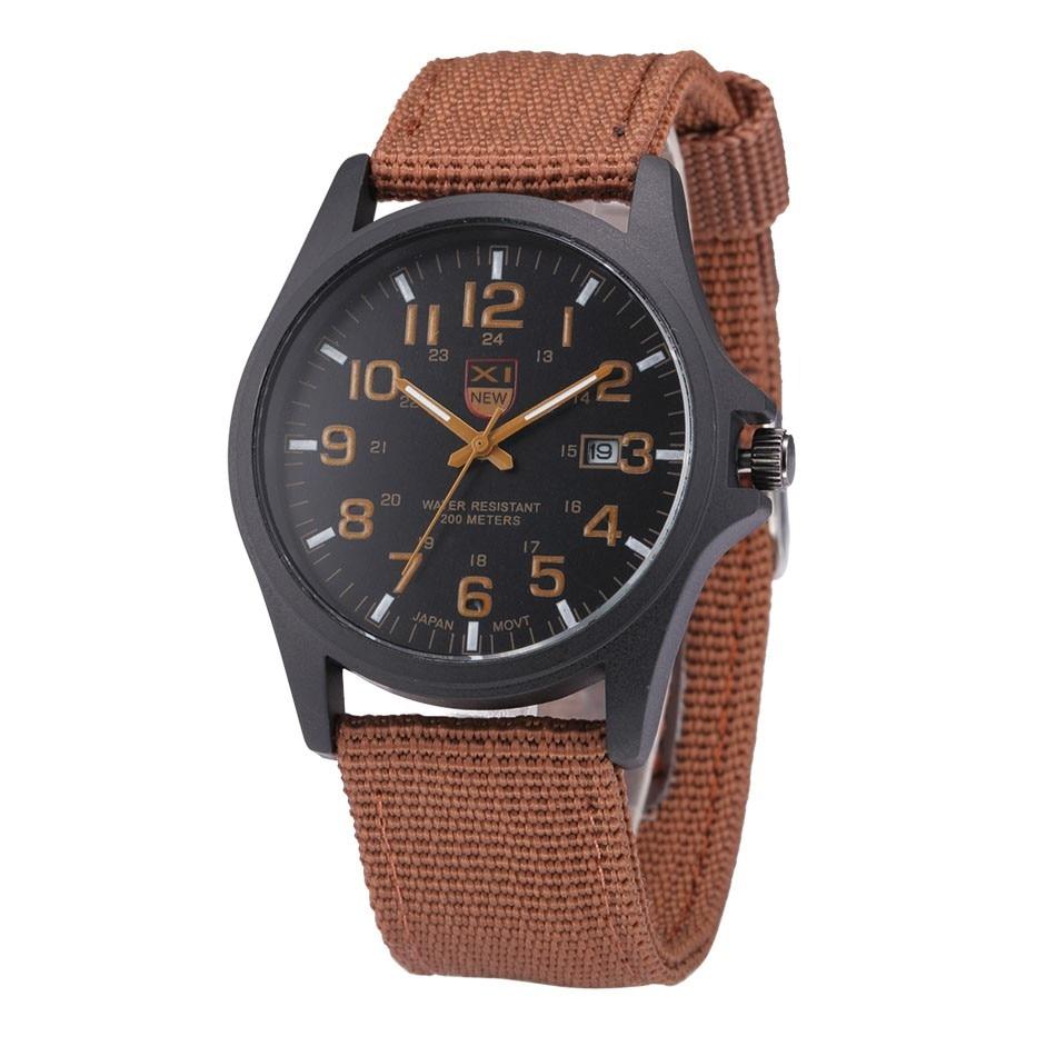 Fantastyczny xinew luksusowe boisko sportowe mężczyzna zegarka kalendarz data mens steel analogowe kwarcowy zegarek wojskowy erkek relogioi kol saat 24