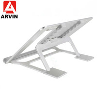 Arvin Folding Laptop Stand Six Angle Adjustable Ergonomic Portable Cooling Notebook Stand for Surface Macbook Air Pro 10 17 Inch