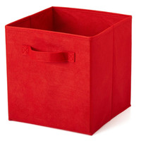 High Quality Desk Storage Box Home Finishing Storage with Pull Handle Design Holder Non-Woven Fabric Stationery Organizer Case