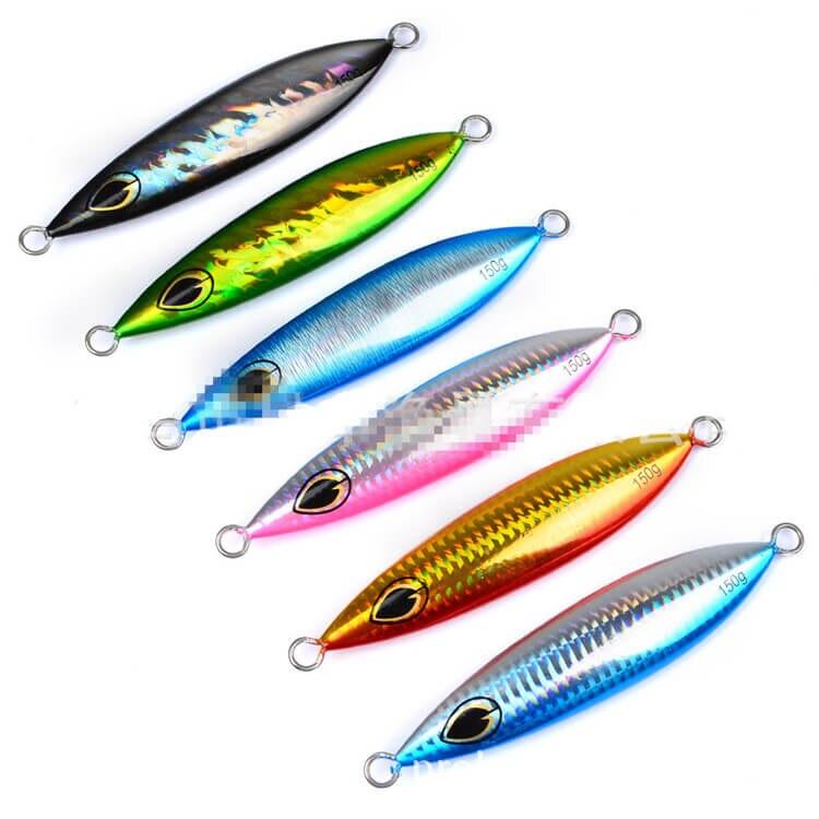 6 pièces Micro Gabarits Couteau Métal Gabarits 150g 13 cm Bionique Artificiel Appâts Leurre Thon Snapper Kingfish Leurres Lent Crankbaits S'attaquer