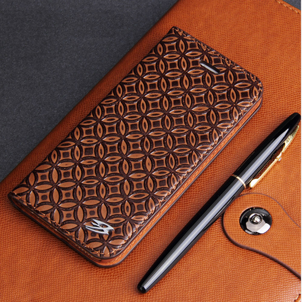 Luxury Cowhide Full cover case For iphone X 6 6s 7 8 First layer cowhide Copper money card holder For iphone 6 7 8 plus bag case (1)