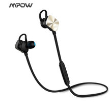 Original MPOW Bluetooth 4.1 Earphones & CVC 6.0 With Mic In-Ear Gold Wireless Earphone For Sports GYM Music Mobile Phones
