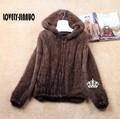 Natural Mink Fur Winter o-neck Coat Women's Long-sleeve Top Fashion All-match Knitted thick Mink Coat 5XL Free shipping TF0282