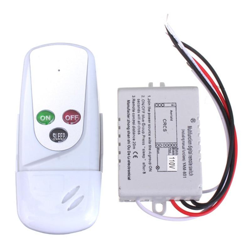 Aliexpress.com : Buy Wireless 1 Way ON/OFF 110V Light Lamp Digital Wall Control Remote Switch US ...