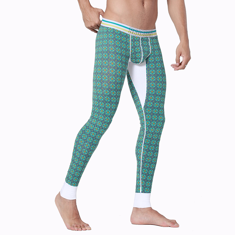Long Johns Underwear & Sleepwears Honest Thermal Underwear Winter Warm Pants Men Long Johns Cotton Printed Thermo Leggings Spandex Tights And Leggings Clothes For Men Clear And Distinctive