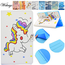 Wekays For Samsung Tab E T560 Cartoon Unicorn Leather Flip Stand Case sFor Samsung Galaxy Tab E 9.6 T560 T561 Tablet Cover Case