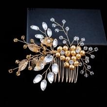 YouLaPan HP67 волосы свадебные гребни свадебные расческа для волос жемчуг свадебный гребень для волос голова кусок дамы свадебные аксессуары