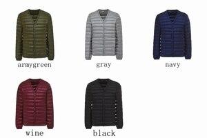 Image 5 - NewBang Brand Mens Down Jacket Ultra Light Down Jacket Men Slim Windproof Portable V Neck Lightweight Coat Warm Liner