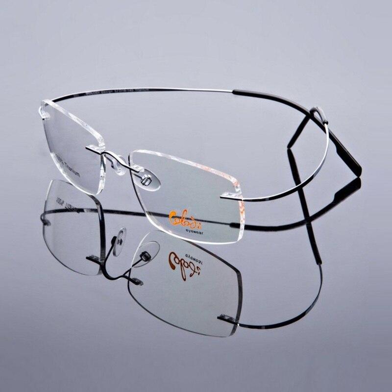 B titan super elastische ultraleichte randlose brillen rahmen brille ...