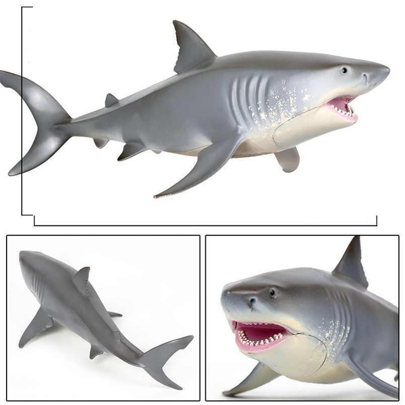 Simulação Animais Marinhos Baleia Mundo Subaquático Tubarão Megalodon Oco Modelo Action Figure Brinquedos Para o Mar Para Crianças Ornamentos
