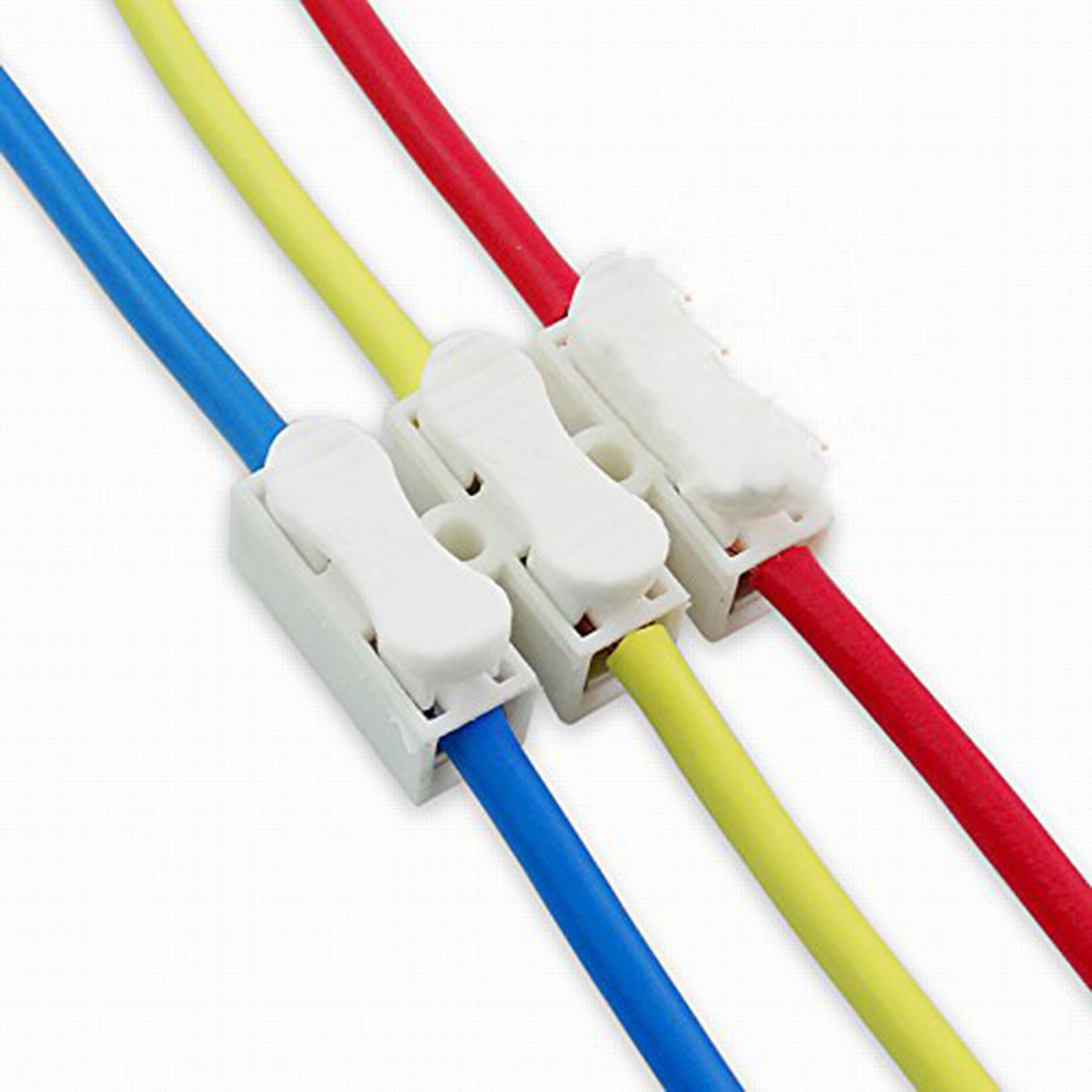 3pin Spring Cable Clip Self Lock Press Push Quick 3p Wire Wireclip For Wiring Led Light Strips Photo 4 Connector Terminal Strip Ch3 In Connectors From Lights