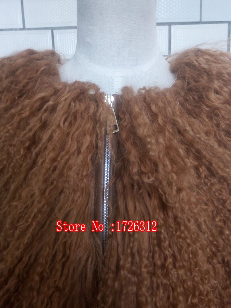 font b Womens b font lamb fur coat tan sheep fur coats short Sheep skin
