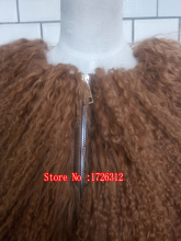Womens lamb fur coat tan sheep fur coats short Sheep skin jacket Mongolia Sheep Fur