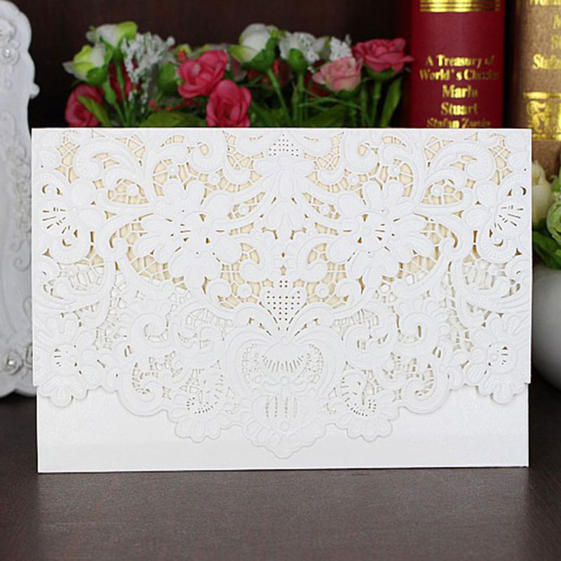 1pcs Invitation Cards Romantic White Envelope Delicate