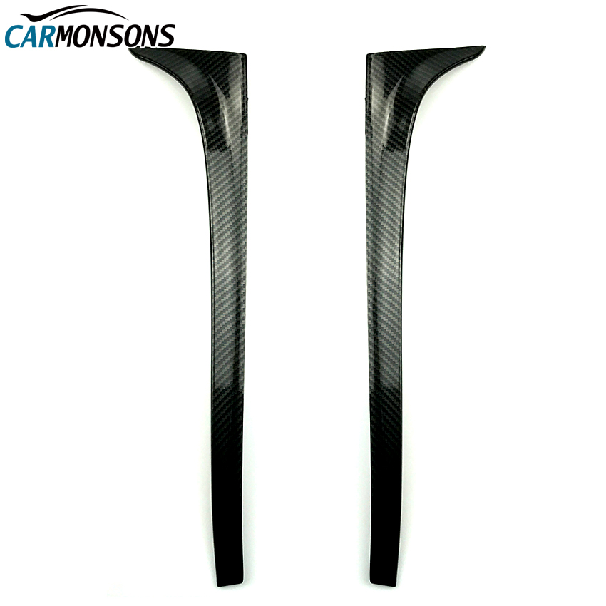 Carmonsons for Volkswagen Golf 7 MK7 Rear Wing Side Spoiler Stickers Trim Cover Accessories Car Styling