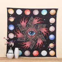 Ancient Eyes Tapestry Mandala Indian Celestial Psychedelic Hippie Wall Hanging Religious Totem Boho Blanket Carpet